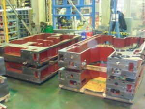 大型機械フレーム鋳物