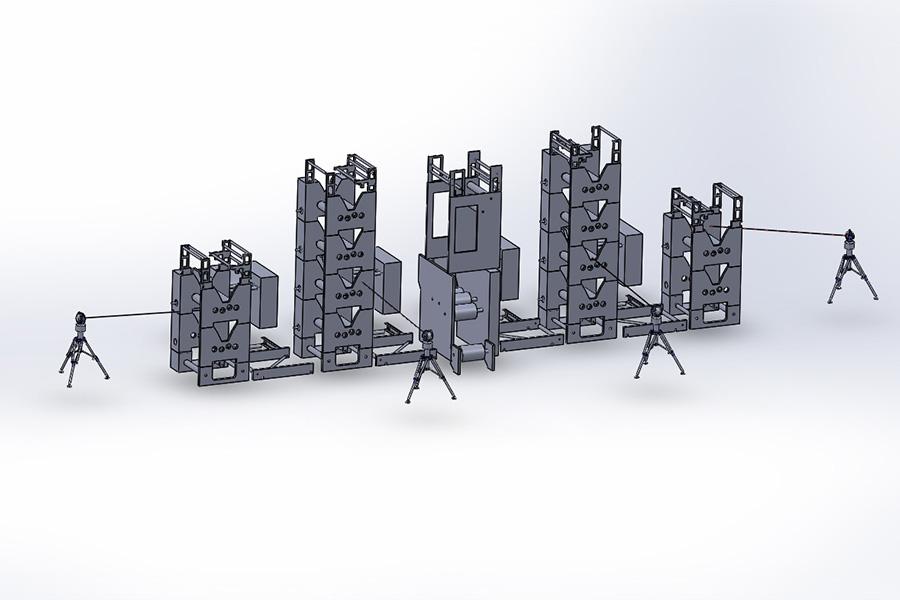 大型機械設備の測定